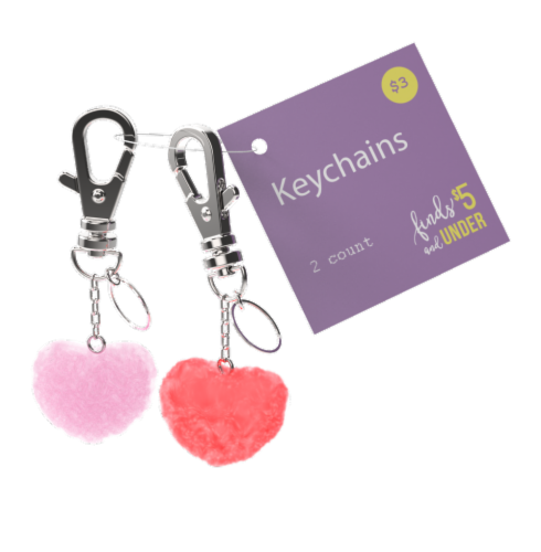 IG Design Heart Keychains Perspective: front