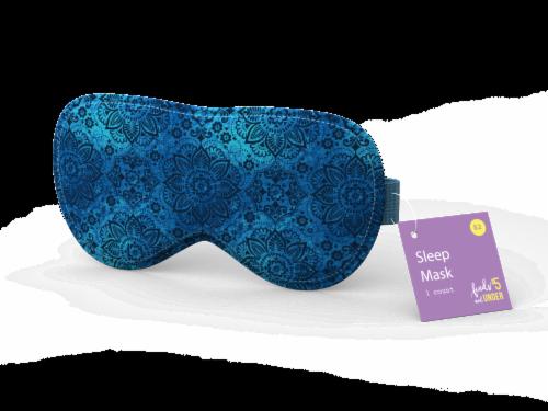 IG Design Patterned Sleep Mask - Navy Perspective: front
