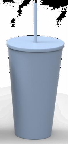 IG Design Tumbler - Slate Blue Perspective: front