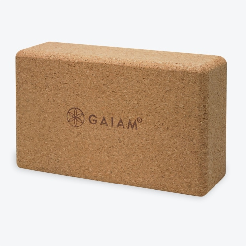 GAIAM Cork Yoga Block Perspective: front