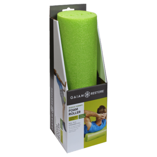 Gaiam Restore Muscle Therapy Foam Roller - Green Perspective: front