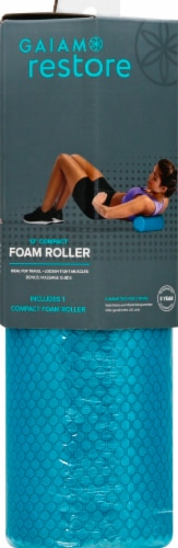 Gaiam Restore™ Compact Foam Roller - Teal Perspective: front