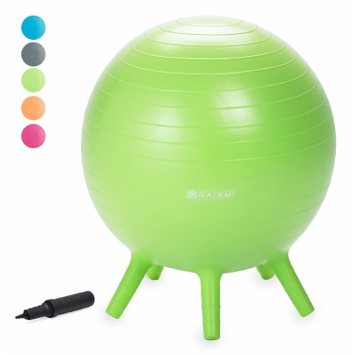GAIAM Kids Stay-N-Play Ball - Lime Perspective: front