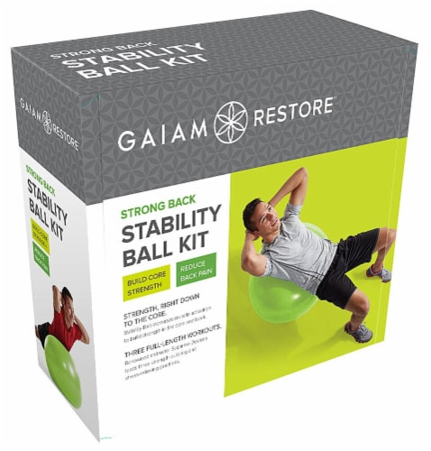 Gaiam Restore™ Strong Back Stability Ball Kit Perspective: front