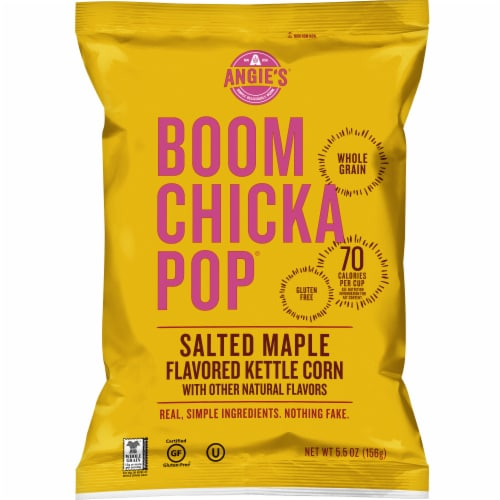 Angie's Boomchickapop Salted Maple Flavored Kettle Corn Perspective: front