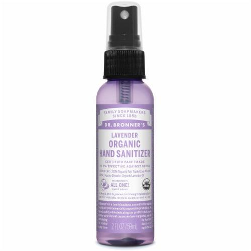 Dr. Bronner's Lavender Organic Hand Sanitizer Perspective: front