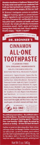 Dr. Bronners All One Cinnamon Toothpaste Perspective: front
