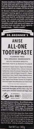 Dr. Bronner's Anise All-One Toothpaste Perspective: front