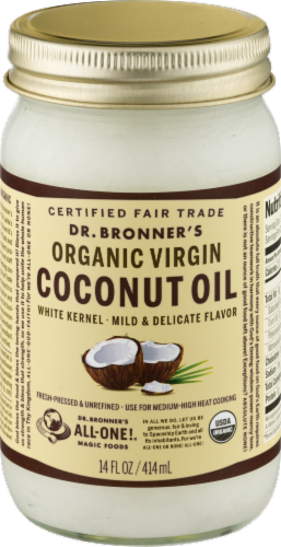 Dr. Bonner's Organic Virgin Coconut Oil Perspective: front