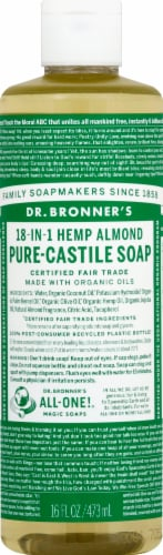 Dr. Bronner's 18-in-1 Hemp Almond Pure-Castile Liquid Soap Perspective: front