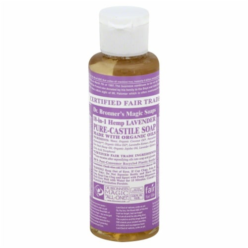 Dr. Bronner's Magic Lavender Castile Liquid Soap Perspective: front