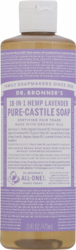 Dr. Bronner's 18-in-1 Hemp Lavender Pure-Castile Liquid Soap Perspective: front