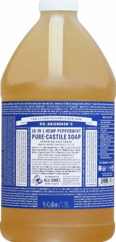 Dr. Bronner's Magic Soaps 18-in-1 Hemp Peppermint Pure-Castile Liquid Soap Perspective: front