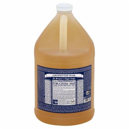 Dr. Bronner's Magic Peppermint Castile Liquid Soap Perspective: front