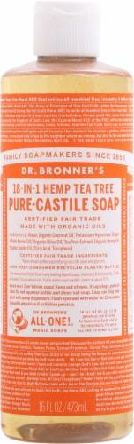 Dr. Bronner's Magic Tea Tree Castile Liquid Soap Perspective: front