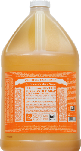 Dr. Bronners 18 In 1 Hemp Tea Tree Pure Castile Soap Perspective: front