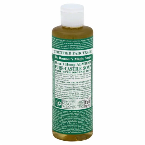 Dr. Bronner's Hemp Almond Pure Castile Soap Perspective: front