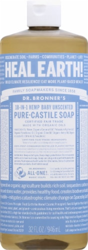 Dr. Bronner's Unscented Pure-Castile Baby Soap Perspective: front