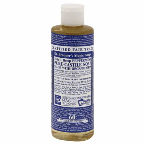 Dr. Bronner's Organic Castile & Peppermint Soap Perspective: front