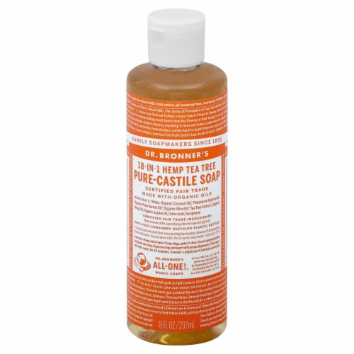 Dr. Bronner's Tea Tree Castille Liquid Soap Perspective: front