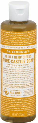Dr. Bronner's 18-in-1 Hemp Citrus Pure-Castile Soap Perspective: front
