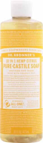 Dr. Bronner's Citrus Pure-Castile Soap Perspective: front