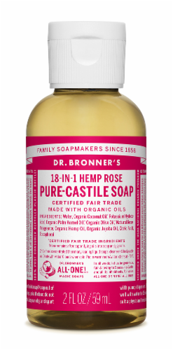 Dr. Bronner's Magic Soaps 18-in-1 Hemp Rose Pure-Castile Liquid Soap Perspective: front
