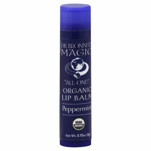 Dr. Bronner's Magic Peppermint Lip Balm Perspective: front