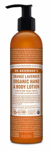 Dr. Bronner's Organic Orange Lavender Lotion Perspective: front
