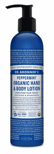Dr. Bronner's Peppermint Lotion Perspective: front