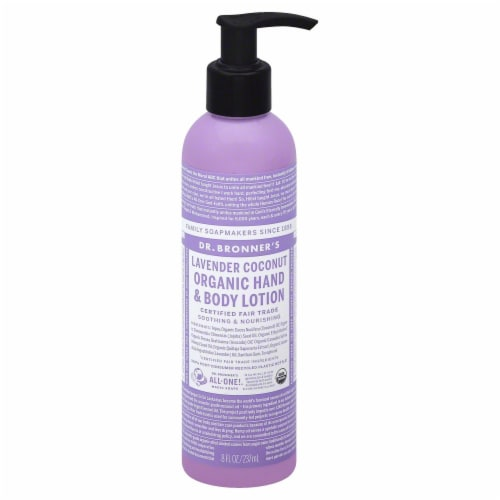 Dr. Bronner's Lavender Coconut Lotion Perspective: front
