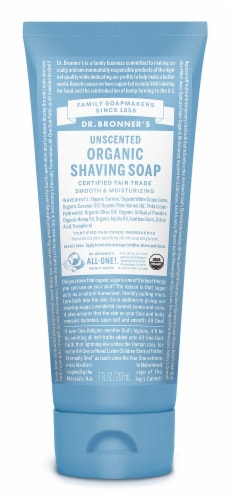Dr. Bronner's Magic Unscented Organic Shaving Gel Smooth & Moisturizing Perspective: front