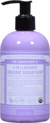 Dr. Bronner's Lavender Hand And Body Shikakai Soap Perspective: front