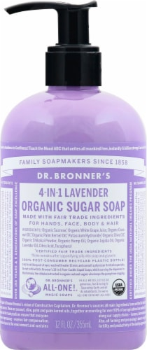 Dr. Bronner's 4-in-1 Lavender Organic Sugar Soap Perspective: front
