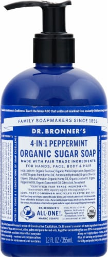 Dr. Bronner's Organic Mint Hand And Body Soap Perspective: front