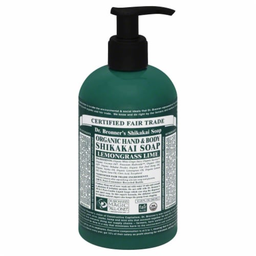 Dr. Bronner's Organic Hand & Body Shikakai Soap Perspective: front