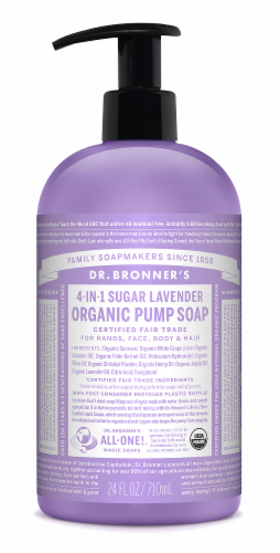 Dr Bronners Organic Hand And Body Shikakai Soap Lavender Perspective: front