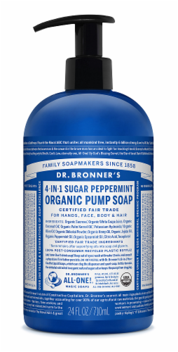 Dr. Bronner's Shikakai Soap Spearmint Peppermint Perspective: front