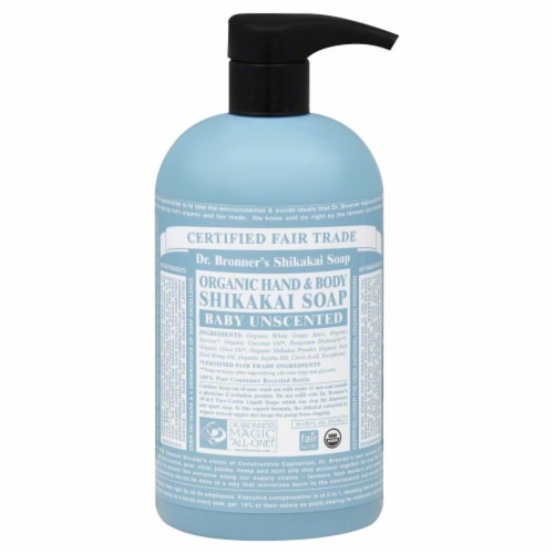 Dr. Bronner's Shikakai Unscented Baby Soap Perspective: front