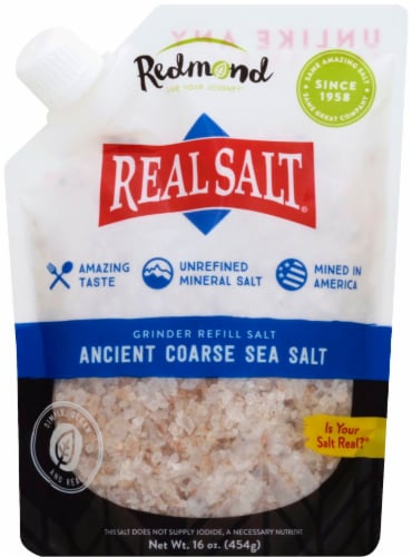 Redmond Real Salt Ancient Coarse Sea Salt Perspective: front