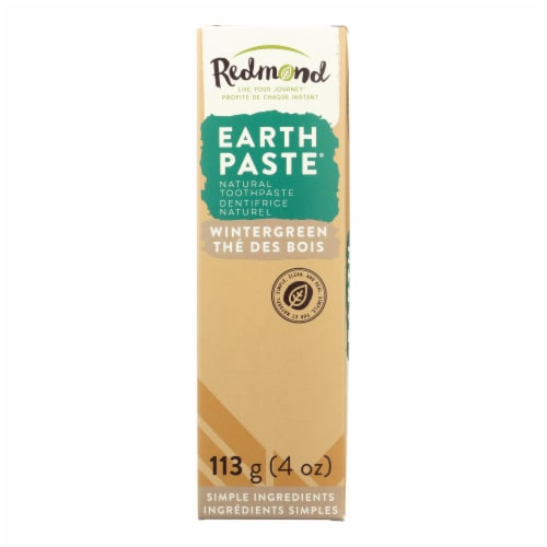 Redmond Earth Paste Wintergreen Amazingly Natural Toothpaste Perspective: front