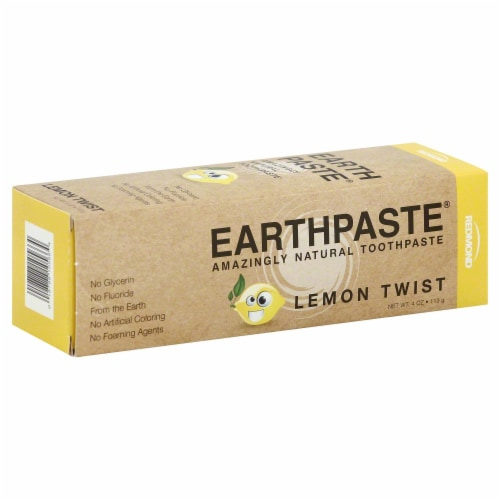 Redmond Earthpaste Lemon Twist Amazingly Natural Toothpaste Perspective: front