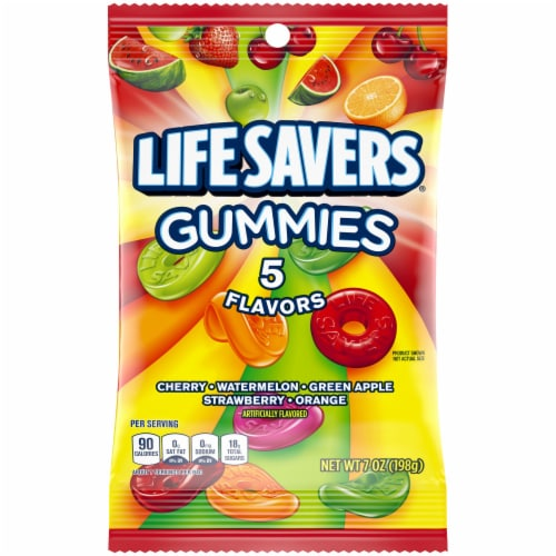Life Savers 5 Flavors Gummies Candy Perspective: front