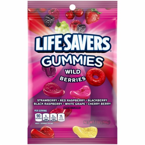 Life Savers Wild Berries Gummies Candy Bag Perspective: front