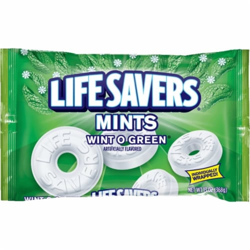 Life Savers Wint O Green Mints Candy Bag Perspective: front