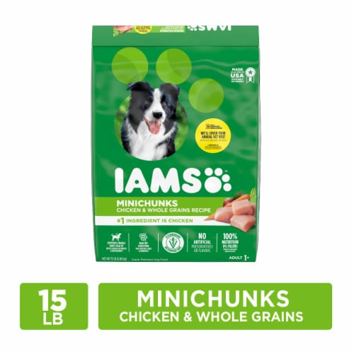 IAMS ProActive Health Minichunks Chicken Dry Dog Food Perspective: front