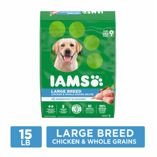 IAMS Proactive Health Chicken Large Breed Dry Dog Food Perspective: front
