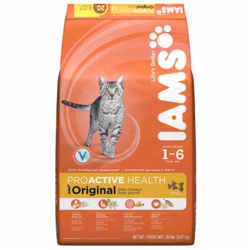 Iams Proactive Health Original Chicken Flavor Dry Cat Food Perspective: front
