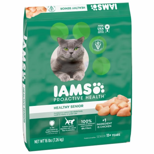 IAMS Proactive Health Healthy Senior with Chicken Dry Cat Food Perspective: front