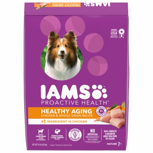 IAMS Proactive Health Chicken & Whole Grains Mature Adult Dry Dog Food Perspective: front
